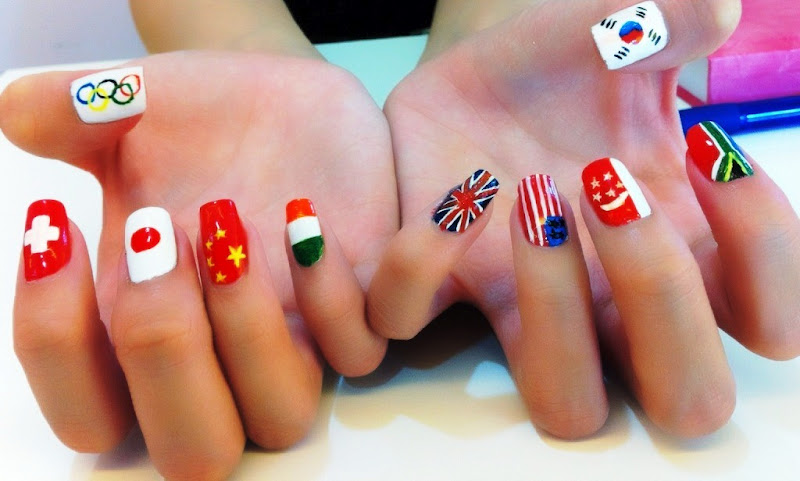 Olympic-2012-nail-art - MyTrendyBuzz