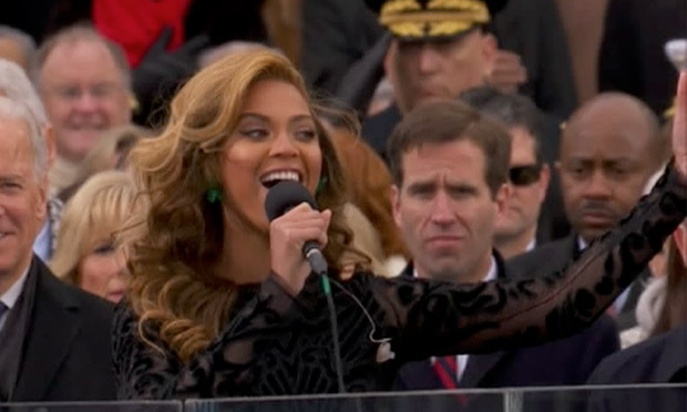 Beyonce singing at inauguration