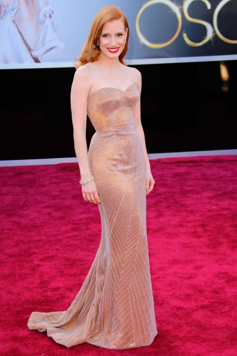 Jessica-Chastain-at-the-Oscars-2013