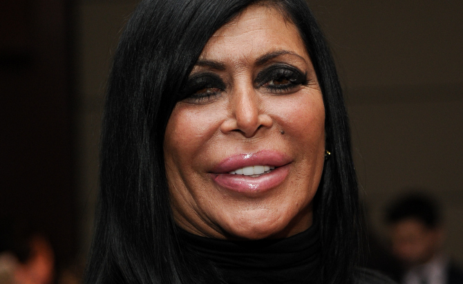 "NEW YORK, NY - JANUARY 06:  Mob Wives star Angela ""Big Ang"" Raiola attends MDA's 18th Annual Muscle Team Gala  at Pier 60 on January 6, 2015 in New York City.  (Photo by Rommel Demano/Getty Images)"