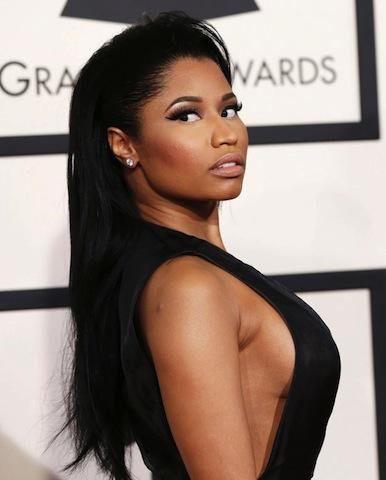 Rapper-Nicki-Minaj-arrives-at-the-57th-annual-Grammy-Awards