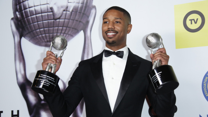 Mandatory Credit: Photo by Jim Smeal/BEI/Shutterstock (5583006x) Michael B. Jordan 47th NAACP Image Awards, Press Room, Los Angeles, America - 05 Feb 2016